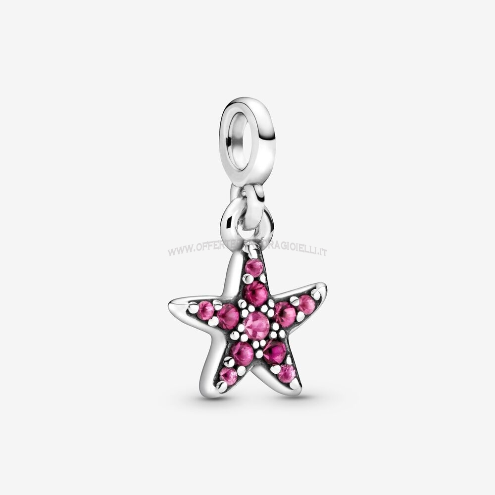 Gioielli Pandora My Pink Starfish Dangle Charm Scontati