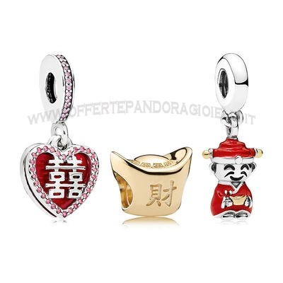 Gioielli Pandora Happiness Fortune And Luck Charm Pack Scontati